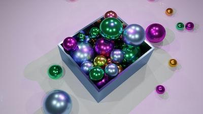 Colorful Balls in Box