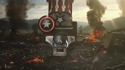 Buckle Face Captain America TV Commercial