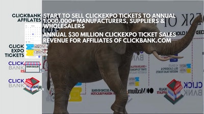 Start to SELL ClickEXPO TICKETS to 1.000.000+ Manufacturers, Suppliers and wholesalers