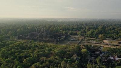 Aerial view in Angkor Wat