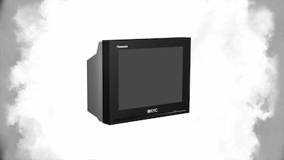 تلفزيون ثلاثي الأبعاد Old TV 3D Model